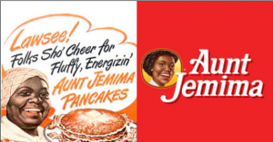 brand activism - a racist Aunt Jemima pancakes ad depicting a black woman with slave-era clothing.